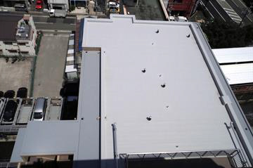 Waterproof roofing after construction